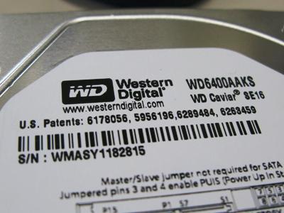 ウエスタンデジタルハードディスク.JPG
